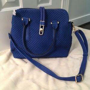 Royal Blue Faux Leather Handbag